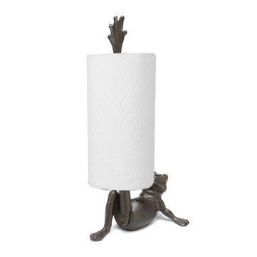 Iron Frog Paper Towel Holder Kitchen Towel Dispenser Toilet Paper Holder Gift