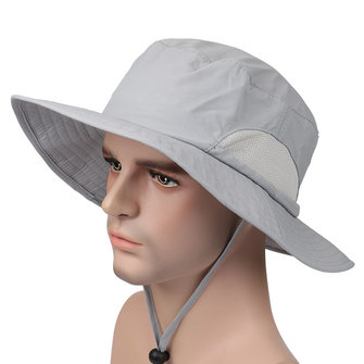 Unisex Mens Outdoor Breathable Sunshade Bucket Hats Fishing Climbing Visor Cap