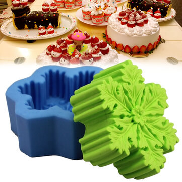 Christmas Snowflake Silicone Soap DIY Mold Handmade Candle Soap Mold 3D Mould Baking Mold