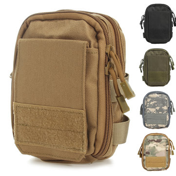 Outdoor Tactical Molle Pouch EDC Utility Sports Waist Bag With Cell Phone Holster Holder
