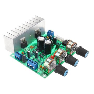 TDA2030A DC 12V 30W+30W Dual Channel Power Amplifier Board Volume Control Preamp Integrated Circuits Board 3.5mm Stereo Interface