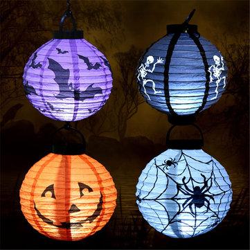 Halloween Party Home Decoration Luminous Paper Portable Lantern Pumpkin Lights Horror Scene Toys