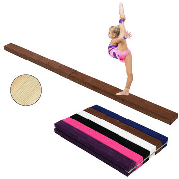 94.5x3.9x2.2inch Folding Balance Beam Cushion Train Mattress Gymnastics Mat Somersault Sport Pad