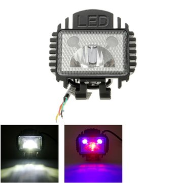 DC12-36V 1200LM Motorcycle Headlight LED Headlamp Strobe Flashing Light Universal