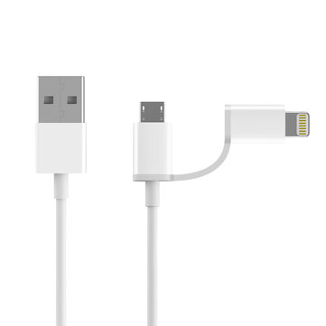 Original ZMI 2 in 1 Lightning + Micro USB 1M Phone Cable for Samsung iPhone Huawei