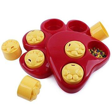 Multifunction Pet Bowl Feeder ของเล่น 7 หลุม สุนัข Paw ของเล่นเพื่อการศึกษาการฝึกอบรม Toys Puppy Puzzle