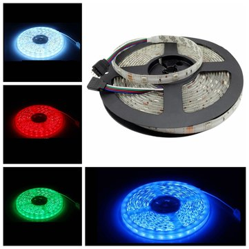 5M 5050 150LED RGB Waterproof Car Decoration Strip Light with IR Remote Controller