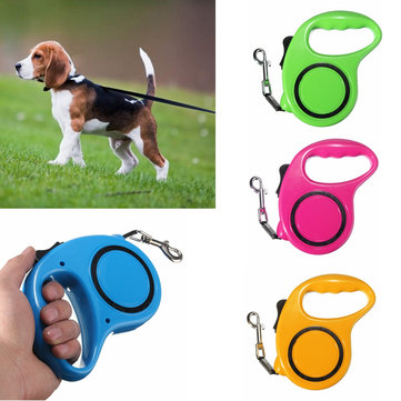 3M Automatic Dog Collar Belt Pet Traction Rope Pet Extensible Harness Leashes Traction Rope For Dogs