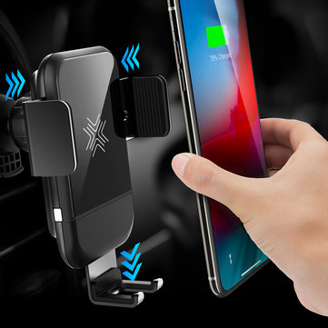 ROCK Gravity Auto Lock 10W 7.5W 5W Qi Wireless Fast Charger Car Holder For iPhone XS XR 8 S9 Note 9
