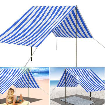330x180cmПортативныйПляжныйТентУльтрафиолетовыйSun Shade Shelter Canopy На открытом воздухе Пикник Кемпинг