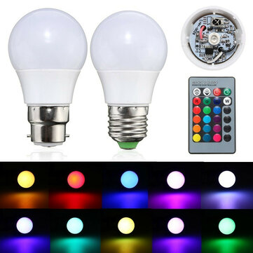 3W E27/B22 Dimmable RGB LED Light Color Changing L& Bulb + 24 Key Remote  sc 1 st  Banggood : remote dimmable led lighting - www.canuckmediamonitor.org
