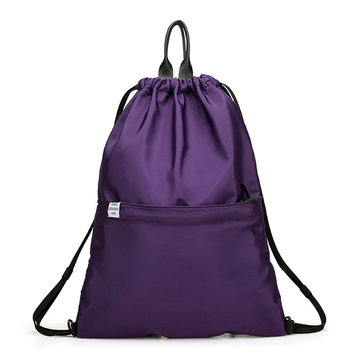 Women Outdoor Casual Oxford Cloth Waterproof Drawstring Backpack