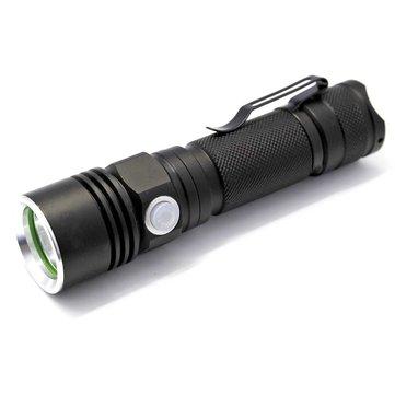 Soshine TC10 XPE 200Lumens 3Mode切り替え可能なUSB充電式LED懐中電灯18650