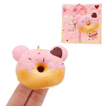 Yummiibear Mini Donut Squishy 4.5cm Slow Rising With Packaging Collection Gift Soft Toy