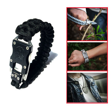 Outdoor Survival Multi Functional EDC Gadget Parachute Rope Bracelet Convenient Emergency Knife
