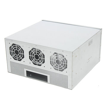 1250W 5.5U Open Air Mining Frame Miner Rig Case Crypto Coin For 8 GPU
