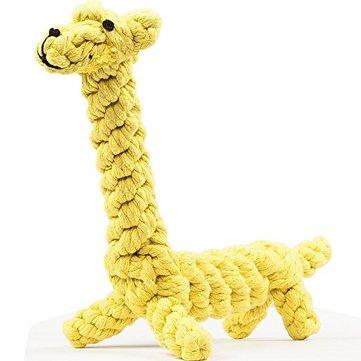 Yani DCT-4 Köpek Oyuncak Zürafa Pet Chew Dayanıklı Pamuk Rope Etkileşimli Dental Diş Temizliği Köpek için