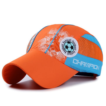 Boys Girls Summer Outdoor Quick-drying Baseball Cap Mesh Breathable Waterproof Hat