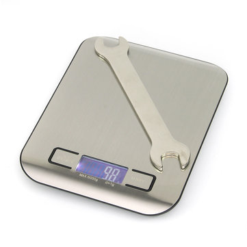 5kg/1g Stainless Steel Electronic Digital Weight Scale LCD Display Kitchen Tool