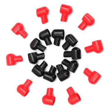 10 Pairs 20x12mm Red Black Round Battery Terminal Boots Insulating Covers