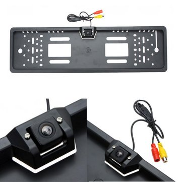 Car Rear View Camera Waterproof License Plate Frame Back Car Parking Viewer For Europe License