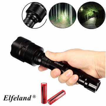 Elfeland 3x XM-L T6 3000LM 5Modes Dimming Super Bright Headlamp LED Flashlight + 2x18650