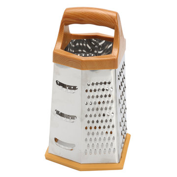 Professional Box Grater Stainless Steel with 4 Sides Ginger For Parmesan Cheese Vegetables