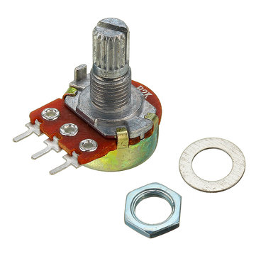 5pcs 200V 0.2W 2K Ohm Potentiometer Single Linear