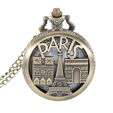 DEFFRUN PARIS European Architecture Quartz Pocket Watch