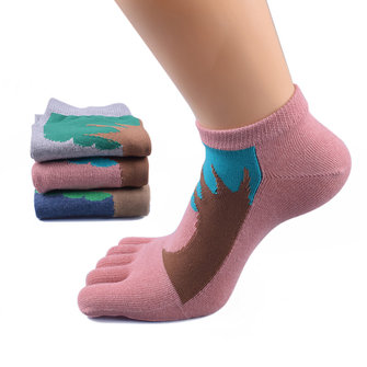 Women Jacquard Toe Socks Summer Cotton Sport Casual Breathable Deodorant Beri Boat Socks