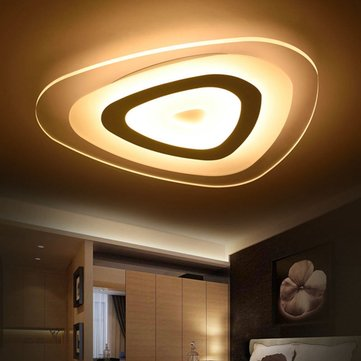 48W Modern Ultrathin LED Flush Mount Ceiling Light 3 Color Adjustable for Living Room Home