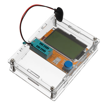LCR-T4 Mega328 Transistor Tester Diode Triode Capacitance ESR Meter With Clear Shell