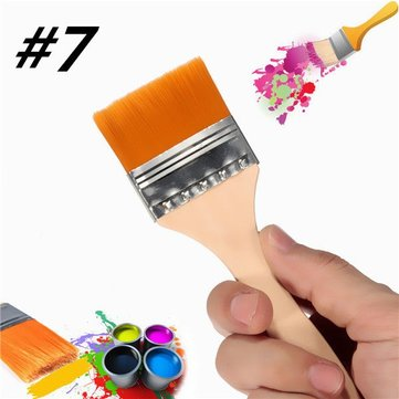 Number 7 Nylon Painting Brush Artists Acrylic Oil Paint Varnish Tool Art Supply