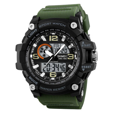 SKMEI 1283 Men Watch Military Dual Display Chronograph LED Sport Digital Watch
