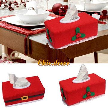 Santa Claus Cloth Christmas Tissue Box Cover Holder Xmas Decoration