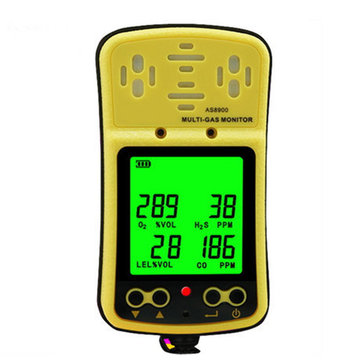 Multi Gas Monitor Handheld Gas Detector 4 in 1 Gas Analyzer AS8900