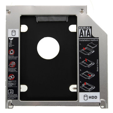 2nd 9.5mm SATA HDD SSD Caddy Adapter Bay For Apple MacBook Pro A1278 A1286 A1297