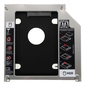 2a porta 9.5mm SATA HDD SSD Caddy Adapter per Apple MacBook Pro A1278 A1286 A1297
