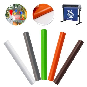 8Color Self Adhesive Roll Waterproof Cutting Plotter Prints Outdoor Sticky Vinyl Wall Sticker