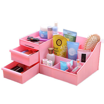 Honana HN-XS1 Large Desktop Cosmetic Storage Box Key Sundries Holder Three Layers Home Organizer