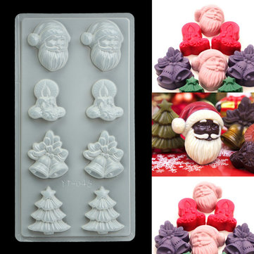 Plastic Christmas Cake Mold Chocolate Baking Mould Pudding Jelly DIY Decor Tool