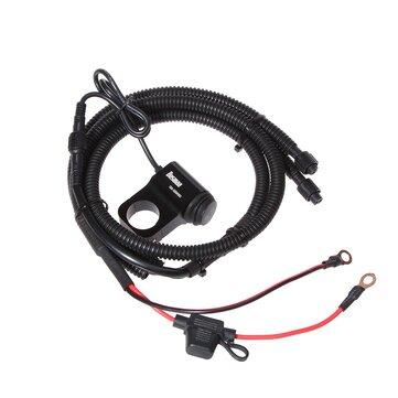 Купить BOSMAA MK2W 12 В мотоцикл Светодиодный выключатель света Провод Жгут проводов ATV Руль Противотуманные фары Вкл. Выключатель