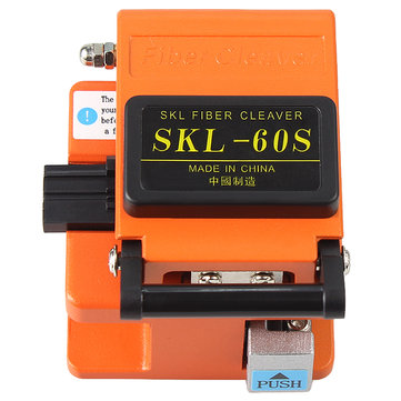 Raitool SKL-60S Optical Fiber Cutter Knife FTTH High Precision Fiber Cleaver Orange with bag