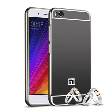 Luxury Plating Frame Mirror Back Cover Case Skin Bumper For Xiaomi Mi 5s Mi5s