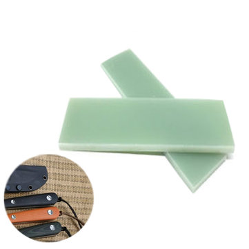 2Pcs/Set Green G10 Knifes Handle Material Scale 1/4'' X 1.5'' X 4.7'' Slabs