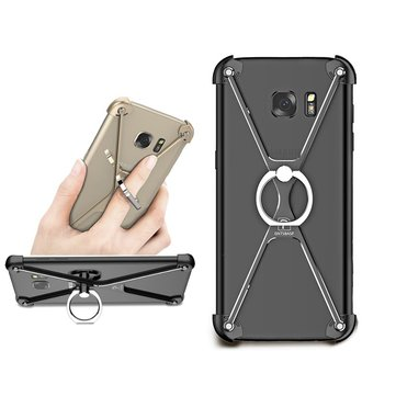 X Shape Bracket Holder Bumper Aviation Alloy Metal Anti Knock Case For Samsung Galaxy S7 Edge