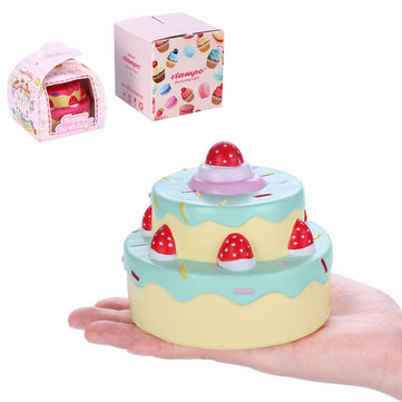 Vlampo Squishy Layer Birthday Cake Slow Rising Original Packaging Box Gift Collection Decor Toy