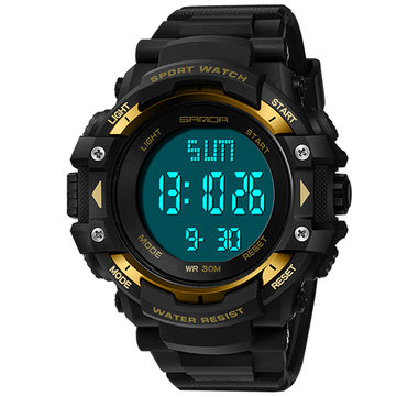 SANDA 348 Military Outdoor Waterproof Men Digital Watch