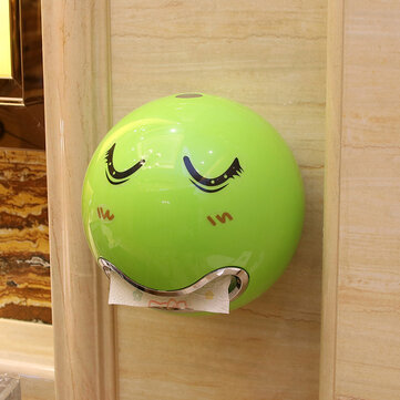 Honana Cute Eyes Stickers Portable Cute Durable Wall Mounted Bathroom Paper Roll Holder Toilet Tissue Box