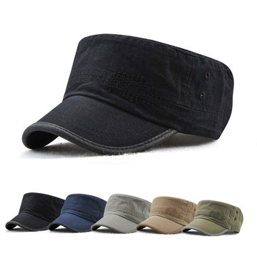 Dad Summer Adjustable Flat Hats Outdoor Peaked Cap Mens